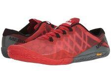 NEW Mens Merrell Vapor Glove 3 Molten Lava Red Black Trail Running Shoes GENUINE