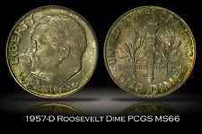 1957-D Roosevelt Dime PCGS MS66 Nice Original Toning High Grade Silver 10c