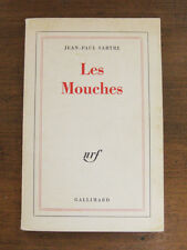 LES MOUCHES play by Jean-Paul Sartre  -1st PB 1962 French Gallimard - THE FLIES