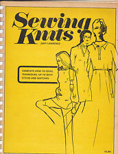 Vintage - Sewing Knits by Judy Lawrence -1971 - How to-Techniques
