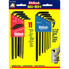 Eklind 13218 18 Piece Combination SAE and Metric Long Ball End Hex-L Hex Key Set