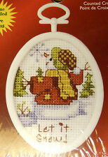Snowman - Janlynn Cross-stitch Christmas Ornament to do - with frame