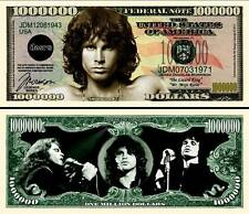 JIM MORISSON The DOORS ! BILLET MILLION DOLLAR US !! Collection Icone Rock Poete