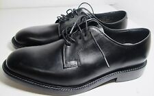 Loake Perth Black Plain Fronted Shoe 10 F - New Slight Seconds RRP £230 (3207)