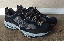 NEW Men's SKECHERS Navy Gray Freefall Break Thru Memory Foam Sneakers Shoes 11.5