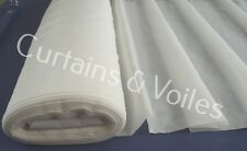 Voile Plain Cream Fabric by The Metre 150cm Wide Top Quality Wedding Drapes