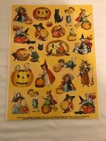 HALLOWEEN-RETRO VICTORIAN STICKERS - 24 STICKERS -SEE DESCRIPTION -BUY MORE+SAVE
