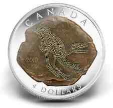 CLEARANCE MUST SELL! Canada 2010 $4 Dromaeosaurus 99.99% Silver DINOSAUR coin