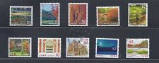Japan 2016 Kyoto Tourist Attractions Complete Used Set of 10 Sc# 4025 a-j 82Y