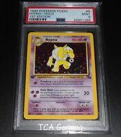 PSA 9 MINT Hypno 8/62 1ST EDITION Fossil Set HOLO RARE Pokemon Card