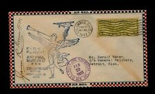 2/10/1933 Columbus Ohio First Flight CAM-27 Signed by Columbus Postmaster - WOW