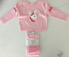 BNWT Baby Girl Gymboree 2 piece set bunny sweater ruffle legging size 6-12 m
