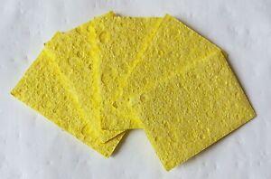 "5pcs High Temperature Soldering Cleaning Sponge 3.5x5cm 1.38x1.96"""