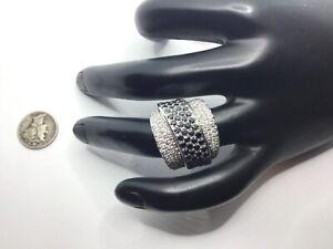 14K White Gold 4.40 CTW Black & White Diamonds Ring, Size 7, $7,590.00 Value!