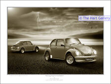 VW Volkswagen Beetle 1303 Signed Limited Edition  Giclee Art Print