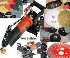 "Wet Polisher Grinder 4"" Polishing 55 Pad Buff 5 Grinding Cup Granite Concrete"