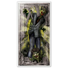 "65"" Halloween Zombie Invasion Creepy Corridor Door Poster Banner Decoration"