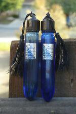 Vintage, purse size, cobalt blue vial, Evening in Paris Bourgois perfume bottles