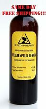 EUCALYPTUS LEMON ESSENTIAL OIL ORGANIC AROMATHERAPY 100% PURE NATURAL 12 OZ