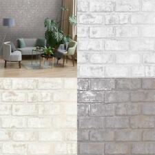 Holden Decor Glistening Brick Shiny Metallic Wallpaper 3 Colours