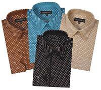 Men's Fashion mini-polka dot dress shirt Double collar Angel-cuff by Georges 617
