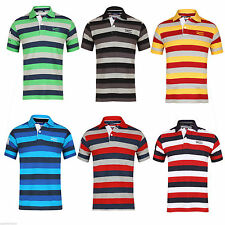 Cotton Polo Slim Striped Casual Shirts & Tops for Men