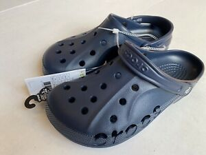 Men's Crocs Size Men's 8 W 10 Baya Navy Clogs Slip On Slide Sandals 10126-410