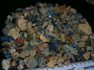 Larger Rough Opal Parcel 3066cts Lightning Ridge Some Fires Fossil/Seam Nr lot