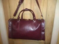 NICE Vintage American Tourister Brown Leather Carry On Duffel Bag Luggage