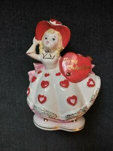 Vintage Rubens original To My Valentine Planter 6166V