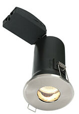 SAXBY 50688 SHIELD PLUS MV Fire Rated Satin Nickel  Halogen Downlight IP65 50W