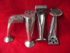 4 x Alte ALU Möbelfüße Industrie Design Tischbeine Tisch Sessel Aluspritzguss