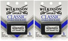 Wilkinson Sword CLASSIC Double Edge Razor Blades (2 packs of 5 = 10 Blades)