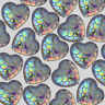 12mm Heart Irridescent Acrylic Mermaid Scale Dragon Egg Cabochons AB Color 50pcs