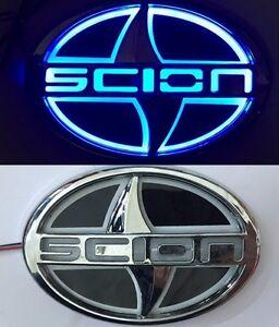 5D LED Car Tail Logo Blue Light for Scion Auto Badge Light Emblems