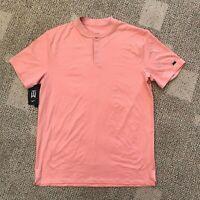 Mens Nike Tiger Woods TW Golf Polo Shirt Pink Quartz Size Medium BV9219-606