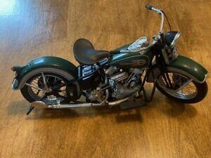 1:10 1936 Harley Davidson EL Knucklehead Set Franklin Mint Green & White