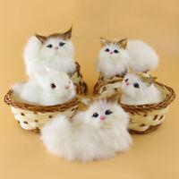 EB_ Lovely Simulation Plush Animal Doll Mini Basket Cat Rabbit Dog Kids Xmas Toy