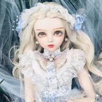 60cm 1/3 BJD Doll Puppe Girl + Make-up + Perücke + Kleidung + Augen Full Set Toy
