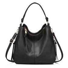 48063500a1e Women Large Hobo Handbags Leather Purse Shoulder Vintage Bucket Bag Ladies  Black