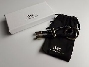 IWC Schaffhausen Stainless Steel & Leather Keyring Boxed & New