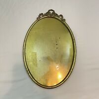 antique Convex Bubble GLASS OVAL  ***Picture FRAME w. scroll***