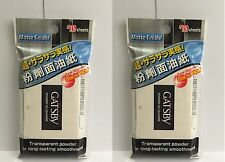 2 X Gatsby Powdered Oil Clear Paper Matte Finish Super Absorbent 70 Sheets