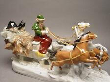 DRESDEN 3 HORSES SLED