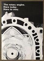 c1975 Mazda. The Rotary Engine Achievements original Australian sales brochure