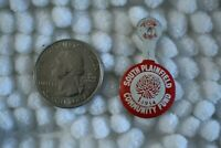 South Plainfield New Jersey Community Fund 1954 Tab Foldover Pinback Button