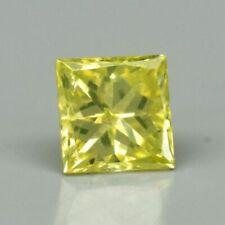 Rare! 0.10ct SI Square Princess Natural Fancy Yellow Diamond, Amazing #21