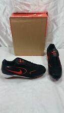 NIKE BASEBALL 310821-081 BLACK WITH ORANGE METAL CLEAT SHOE SIZE 16 NEW OTHER