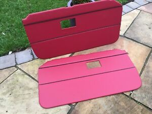 Mgb Mgc Road Or Gt Red / Black piping door cards 1969- 1982
