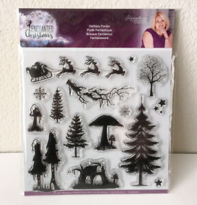 Enchanted Christmas Fantasy Forest Stamp Set Crafters Companion
